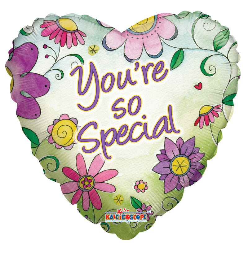 "18"" You're So Special Flowers Heart Balloon"
