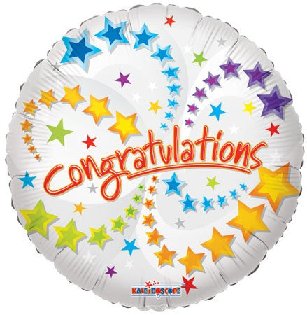 "18"" Congratulations Stars Balloon"