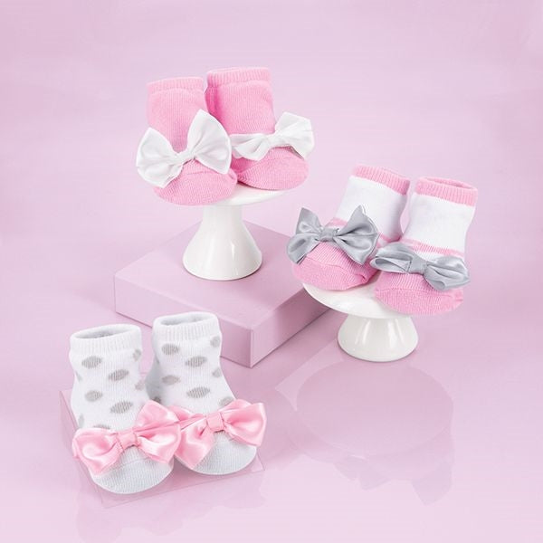 Baby Socks with Ribbons Gift Set