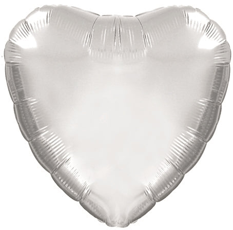 "18"" Platinum Silver Heart Balloon"