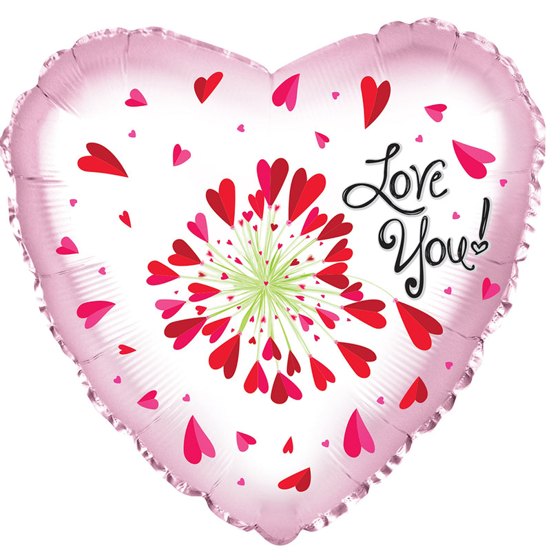 "24"" Love You! Flower Hearts Balloon"