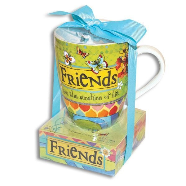 Friends Are Sunshine Mug and Notepad Set