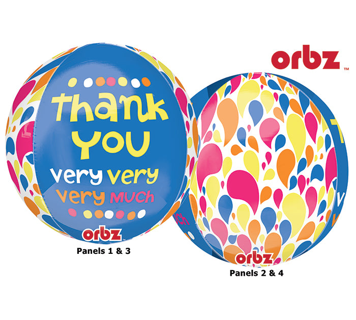 "16"" Thank You Very Very Very Much Orbz Balloon"