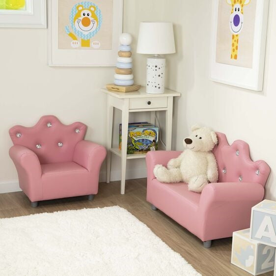 Melissa and Doug Pink Crown Armchair