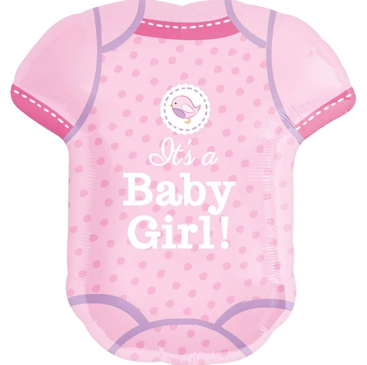 "24""  It's a Girl Onesie Balloon"