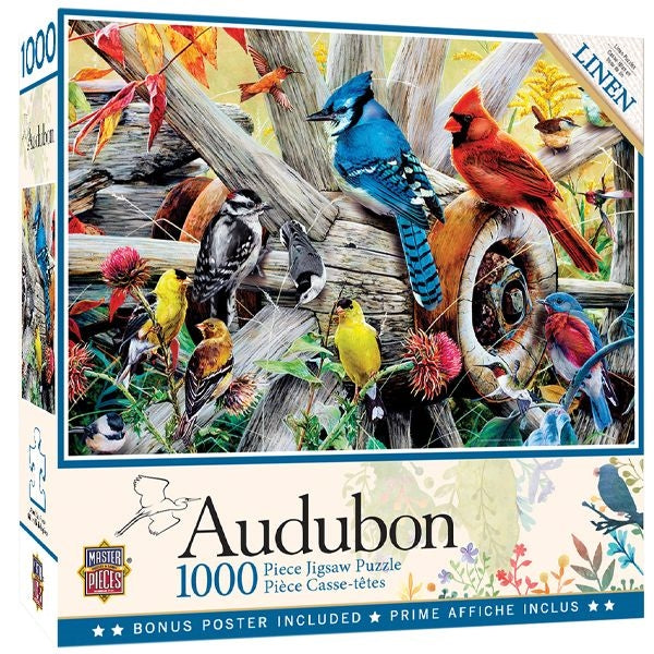 Audubon Backyard Birds Jigsaw Puzzle