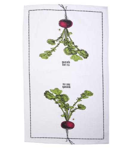 Farm To Table Dishtowel and Fruit Crate Gift Set