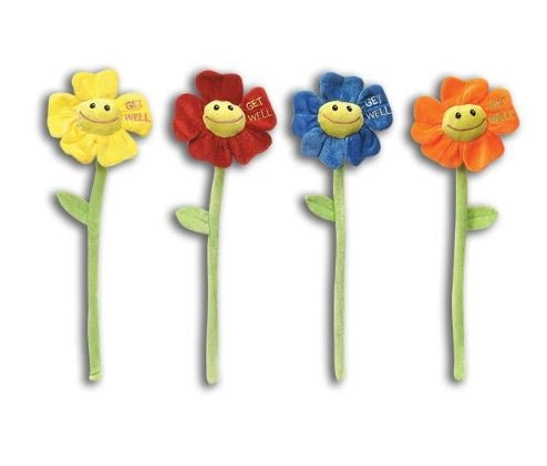 Get Well Plush flowers