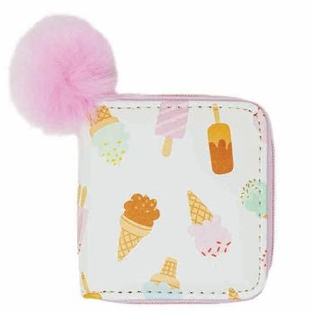 White Ice Cream Wallet