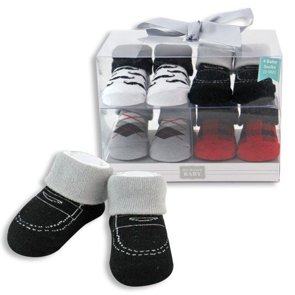 Baby Boy Socks 4 Piece Gift Set