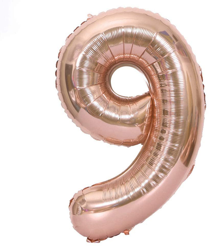 "40"" Number 9 Rose Gold Balloon"
