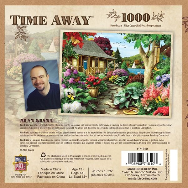 Time Away Dragonfly Garden 1000-Piece Jigsaw Puzzle