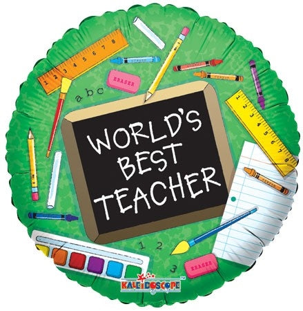 World's Best Teacher Balloon