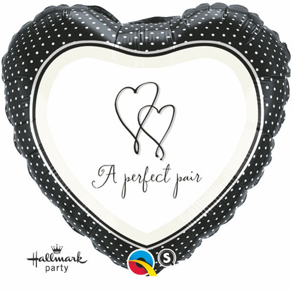 "18"" A Perfect Pair Heart Balloon"