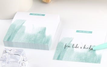 Light Blue Feather Stationary set