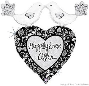 "34"" Happily Ever After Love Birds Balloon"
