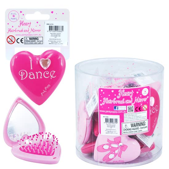 Dance Hairbrush & Mirror Compact Set