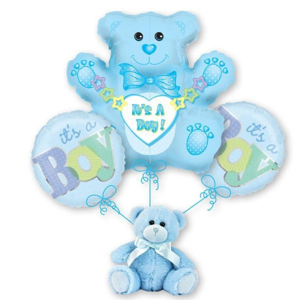 It's a Boy! Teddy Bear Balloon Bouquet
