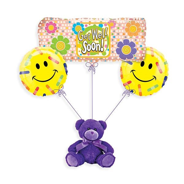 Get Well Soon Band-aid Balloon Bouquet