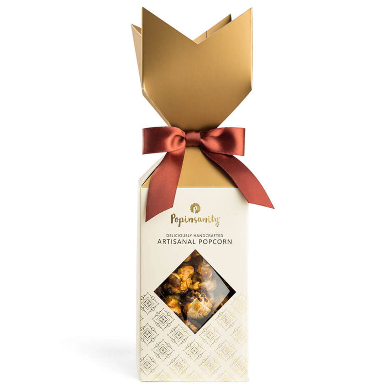 Fancy Crown Box Caramel Chocolate Drizzle Gourmet Popcorn