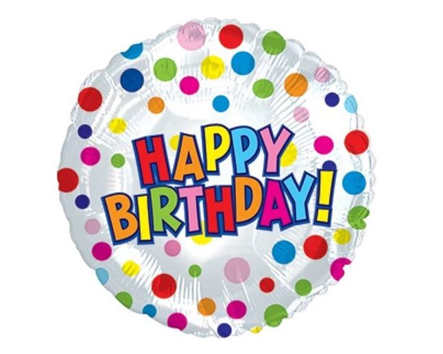 "17"" Happy Birthday! Polka Dot Balloon"