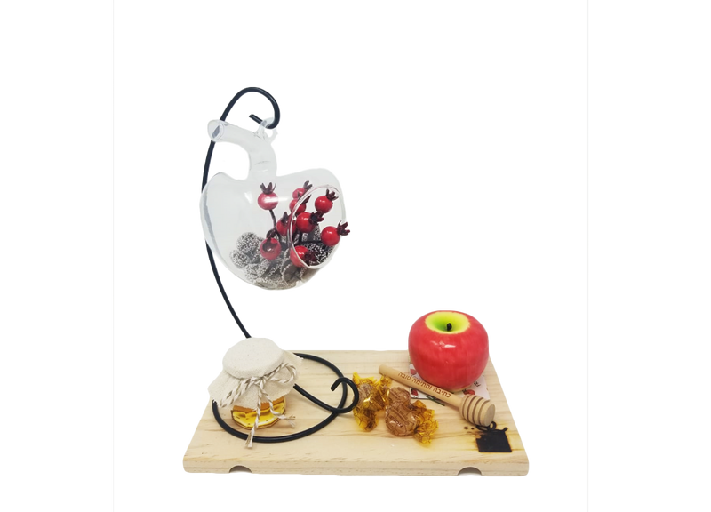 Hanging Apple Vase and Candle Gift Set