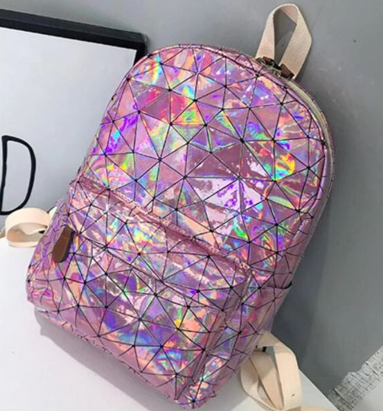 Pink Holographic Bag Pack