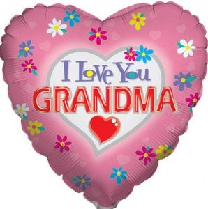 "18"" I Love You Grandma Heart Balloon"