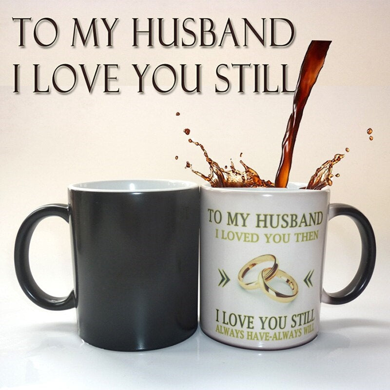 To My Husband Color Changing Mug