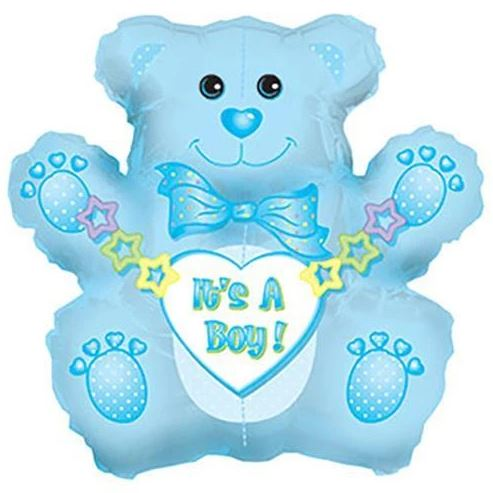 "32"" Jumbo It's a Boy Bear Balloon"