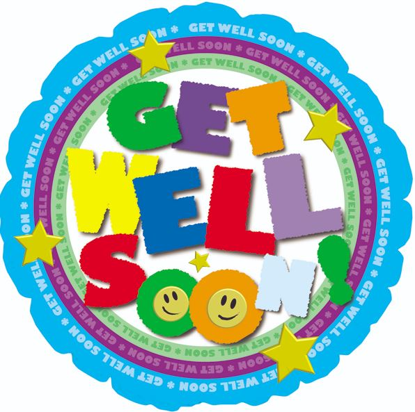 "18"" Get Well Soon! Colorful Balloon"