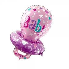 "40"" Baby Girl Pacifier Balloon"