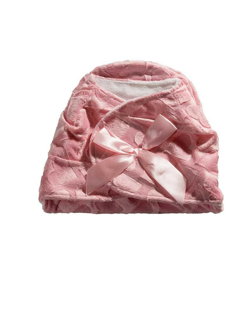 Pink Hearts Velcro Swaddle Blanket