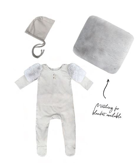Stone Gray Cozy Layette Set