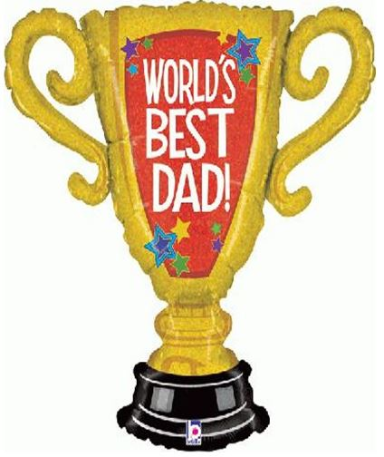 "33"" World's Best Dad! Trophy Balloon"