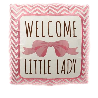 "18"" Welcome Little Lady Square Balloon"