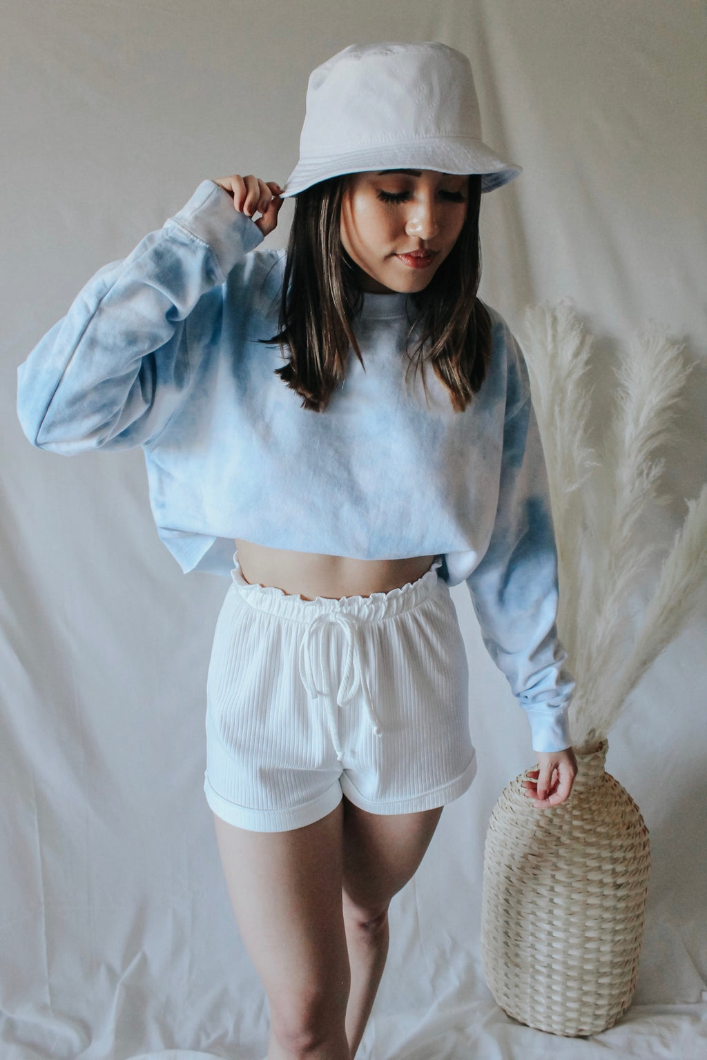 Blue Skies Cropped Sweatshirt - Golden Haus Boutique