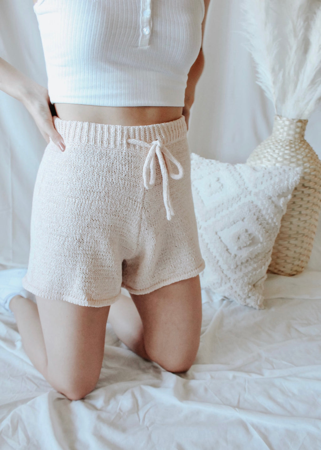 Seaside Knit Shorts - Golden Haus Boutique