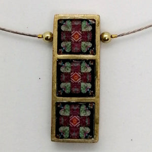 Open image in slideshow, NOA Handmade Rectangle with Three Framed Squares Necklace
