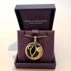 Open image in slideshow, Heathergem Mackintosh Silver Plated Pendant