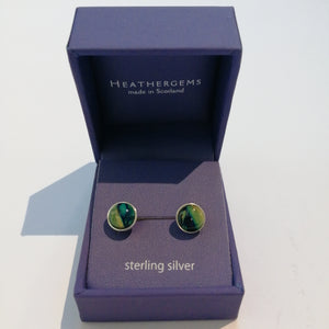Open image in slideshow, Heathergems Round Sterling Silver Stud Earrings