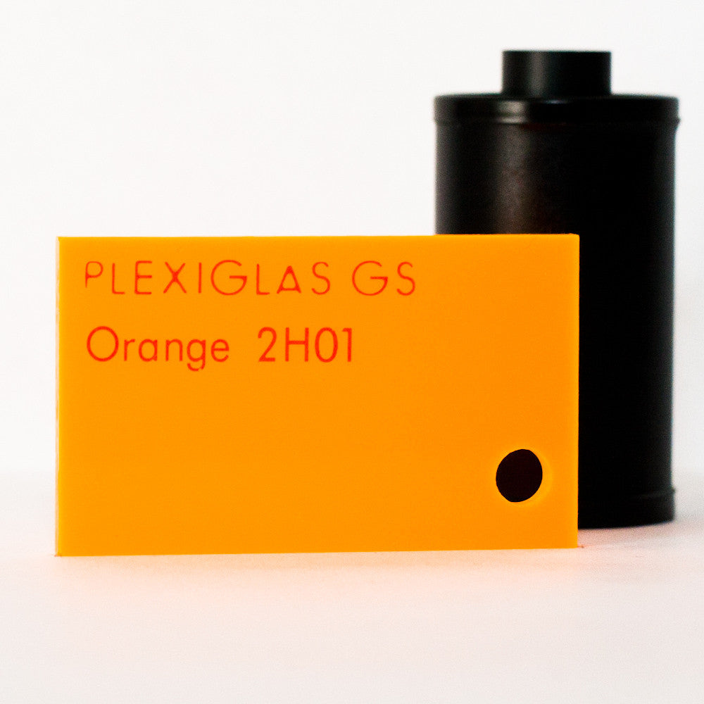 Plexiglas GS 3mm fluoreszierend Orange 2H01