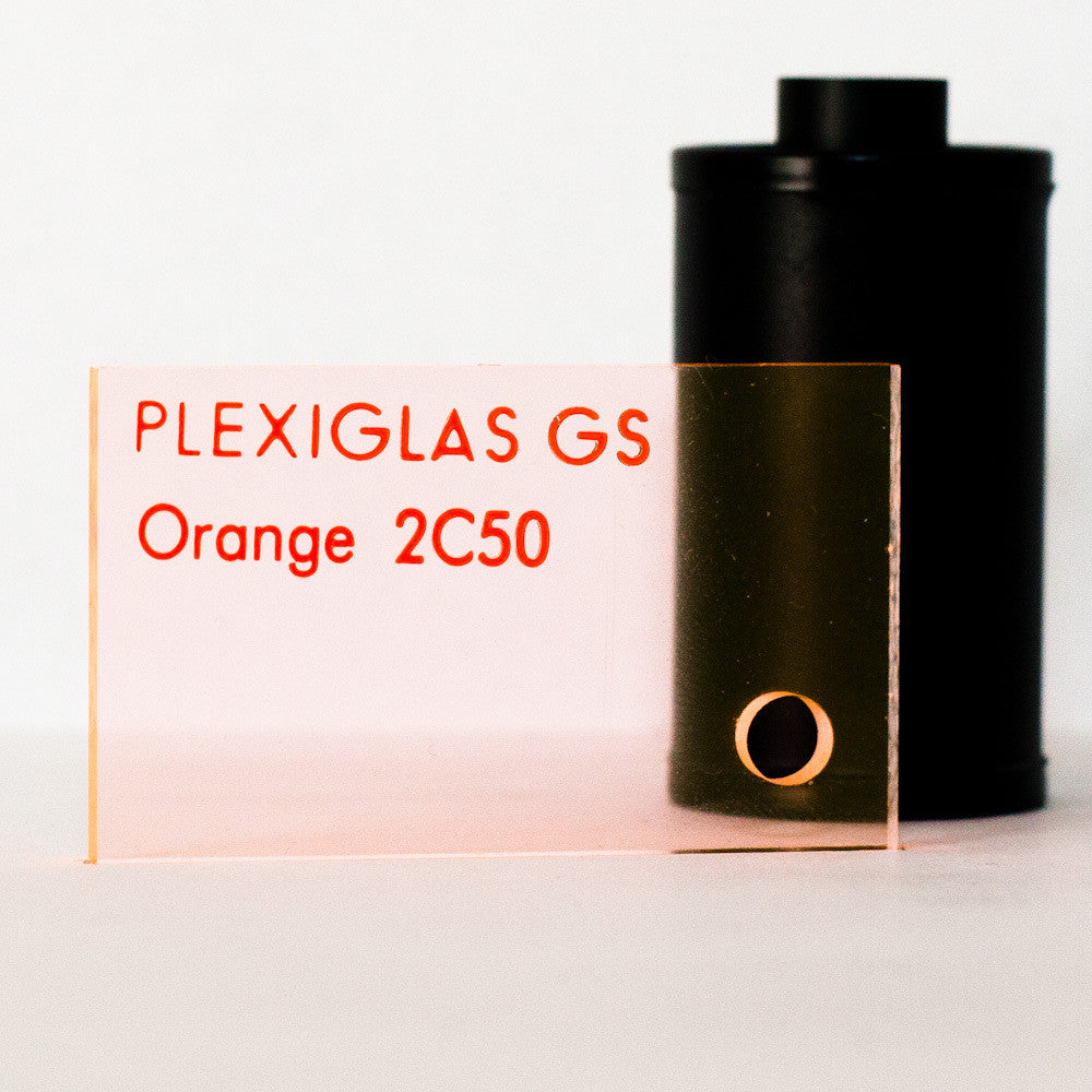 Plexiglas GS 3mm fluoreszierend Orange 2C50