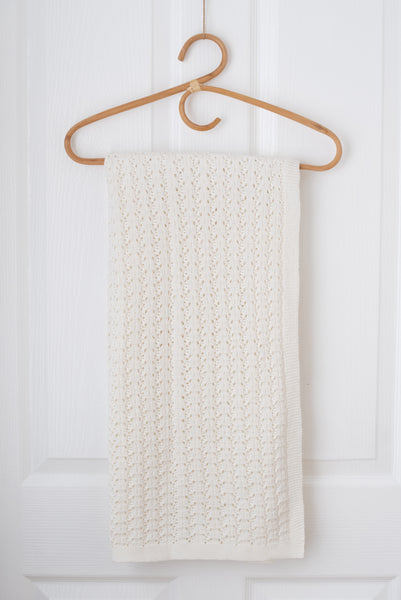 Wish Knit Baby Blanket - Milk