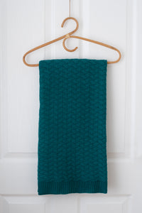 Faith Knit Baby Blanket - Emerald