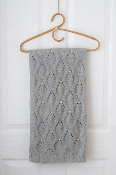 Haven Knit Baby Blanket - Silver