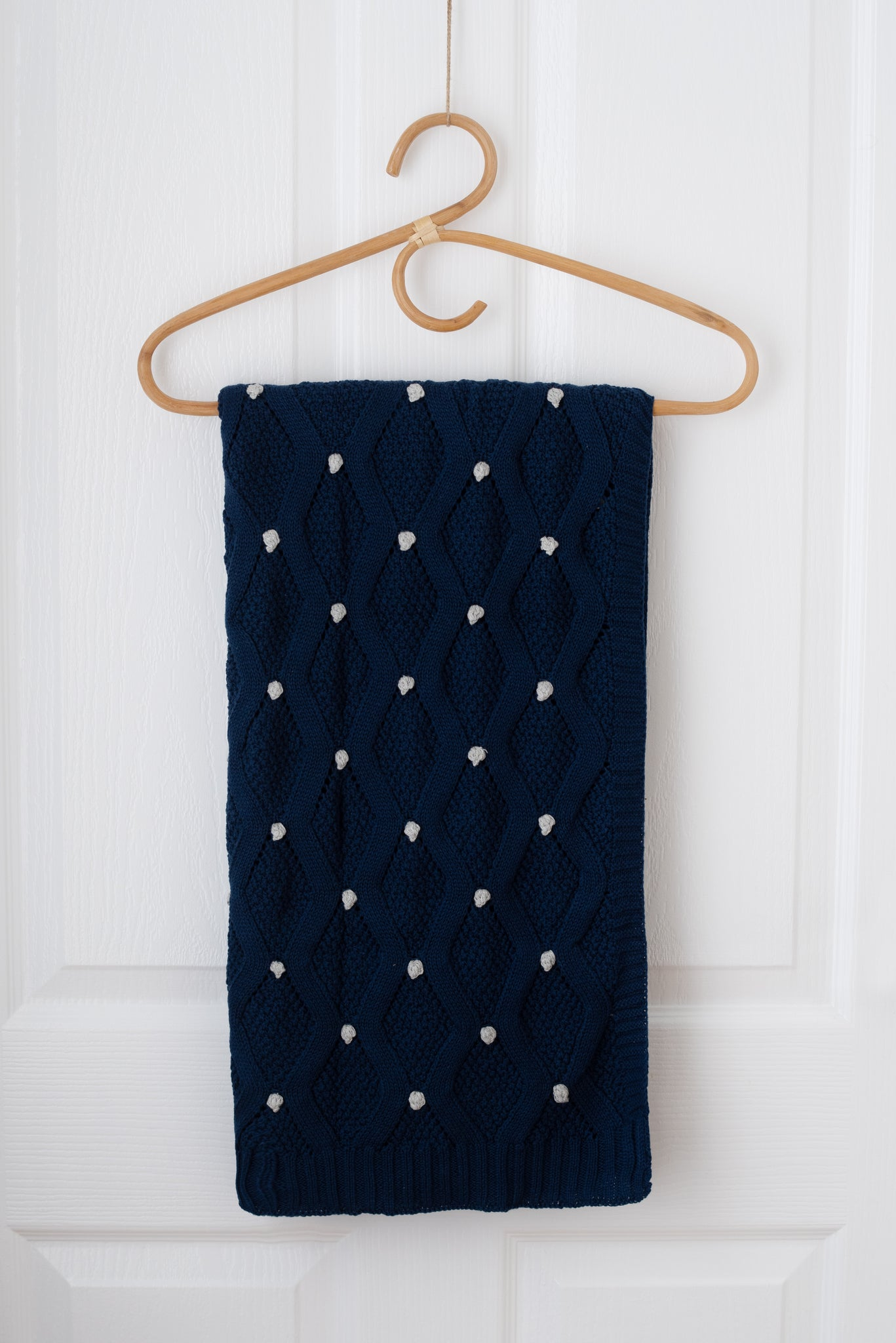 Haven Knit Baby Blanket - Navy