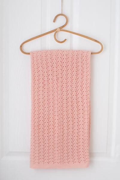 Wish Knit Baby Blanket - Pale rose