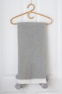 Maize Knit Baby Blanket - Silver