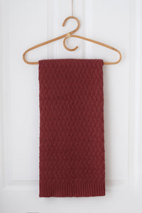 Faith Knit Baby Blanket - Umber